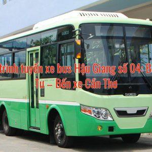 Hành trình tuyến xe bus Hậu Giang số 04: Bắc Cái Tư – Bến xe Cần Thơ