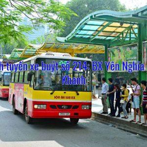 Lộ trình tuyến xe buýt số 214: BX Yên Nghĩa – Xuân Khanh