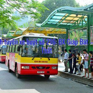 Lộ trình tuyến xe buýt số 216: BX Giáp Bát – Thạch Thất