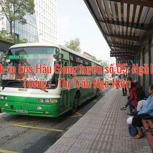 Lộ trình xe bus Hậu Giang tuyên số 05: Ngã ba Vĩnh Tường – Thị Trấn Ngã Năm
