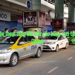 Số điện thoại tổng đài của các hãng taxi tại Bình Dương