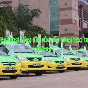 Số điện thoại tổng đài của các hãng taxi tại Hải Dương