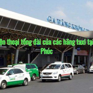 Số điện thoại tổng đài của các hãng taxi tại Vĩnh Phúc